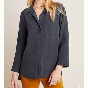 Cloth & Stone Distressed Cassia Button Down Top